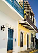 Colorful building facade, Old San Juan/Viejo San Juan.