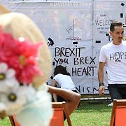 Behind The Wall performs by Teatrul National Radu Stanca at the Night of Festivals London at Bernie Spain Gardens on July 21 2018, London, UK.