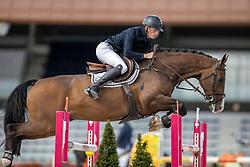 Derks Theo, NED, Iscolavsco Fortuna<br /> Nationaal Kampioenschap KWPN<br /> 7 jarigen springen final<br /> Stal Tops - Valkenswaard 2020<br /> © Hippo Foto - Dirk Caremans<br /> 19/08/2020