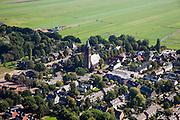 Nederland, Utrecht, Eemnes, 08-09-2009; dorpskern met historische Nederlands Hervormde kerk;.Village with historic Dutch Reformed Church,, .luchtfoto (toeslag); aerial photo (additional fee required); .foto Siebe Swart / photo Siebe Swart