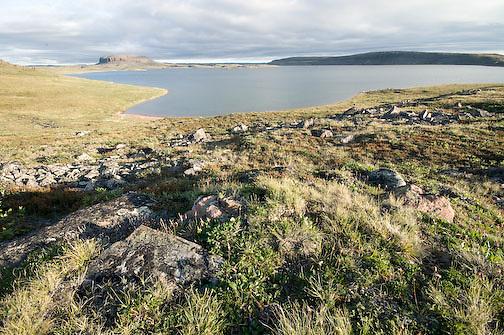 Elu inlet and mount Elu Nunavut, Canada.