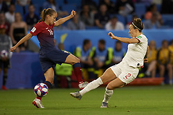 June 27, 2019 - Le Havre, France - Lucy Bronze (Olympique Lyon) of England shooting to goal during the 2019 FIFA Women's World Cup France Quarter Final match between Norway and England at  on June 27, 2019 in Le Havre, France. (Credit Image: © Jose Breton/NurPhoto via ZUMA Press)