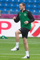 09.06.2012, Stadion Miejski, Poznan, POL, UEFA EURO 2012, Tschechische Republik, Training, im Bild JOHN O'SHEA during the during EURO 2012 Trainingssession of Ireland Nationalteam, at the stadium Miejski, Poznan, Poland on 2012/06/09