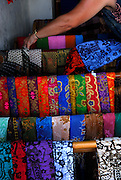 Brightly coloured sarongs for sale, Sanur, Bali, Indonesia