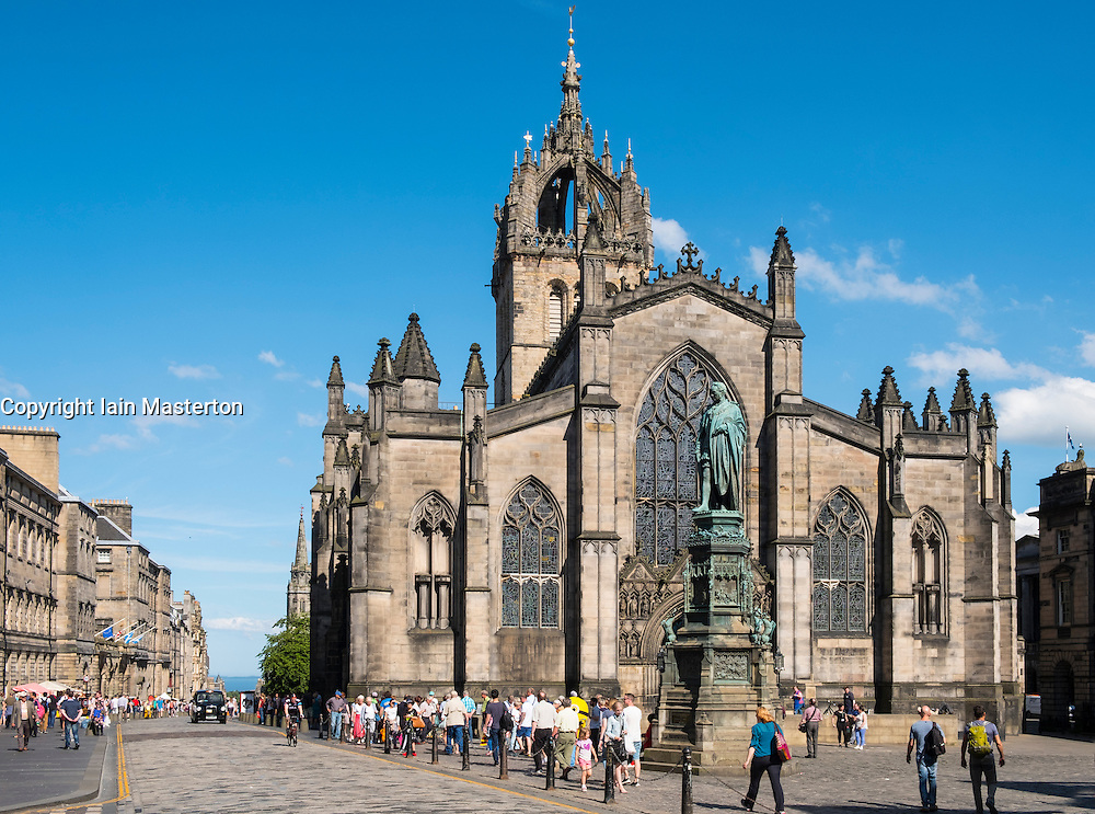 St Giles Cathedral on the Royal Mile in Edinburgh, Scotland, united Kingdom