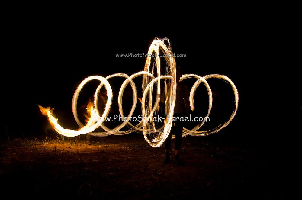 glowing spark spirals