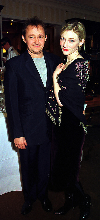 Actress CATE BLANCHETT and her husband MR ANDREW UPTON, at a party in London on 1st December 1999.MZR 56