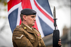 © Licensed to London News Pictures. 11/11/2018. Doncaster UK. The Service of remembrance at the Cenotaph in Doncaster to mark the 100th anniversary of the end of the First World War. Photo credit: Andrew McCaren/LNP