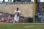 Samuel Deduno #21 of the Minnesota Twins fields a ground ball against the Kansas City Royals on June 27, 2013 at Target Field in Minneapolis, Minnesota.  The Twins defeated the Royals 3 to 1.  Photo by Ben Krause