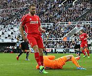 Rickie Lambert of Liverpool fails to score - Barclays Premier League - Newcastle Utd vs Liverpool - St James' Park Stadium - Newcastle Upon Tyne - England - 1st November 2014  - Picture Simon Bellis/Sportimage