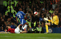 Photo: Tony Oudot.<br /> Chelsea v Manchester United. The Barclays Premiership. 09/05/2007.<br /> Shaun Wright Phillips of Chelsea goes for goal but it is saved by Tomasz Kuszczak of Man Utd