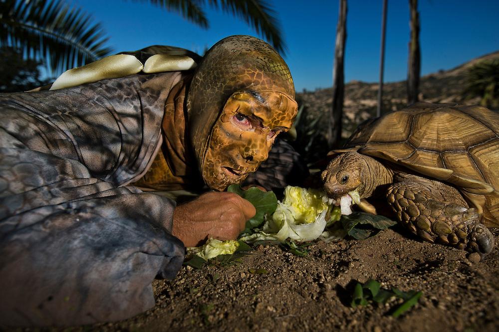 Ramona, CA <br /> Roy Toft in his tortoise garb.