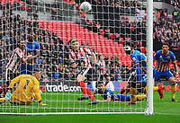 Football - 2018 Checkatrade (EFL) Trophy - Lincoln City vs. Shrewsbury Town<br /> <br /> Elliot Whitehouse of Lincoln scores his first half goal, at Wembley Stadium.<br /> <br /> COLORSPORT/ANDREW COWIE