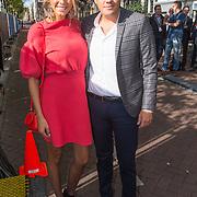 NLD/Amsterdam/20150926 - Afsluiting viering 200 jaar Koninkrijk der Nederlanden, Kim Kötter en partner Jaap Reesema