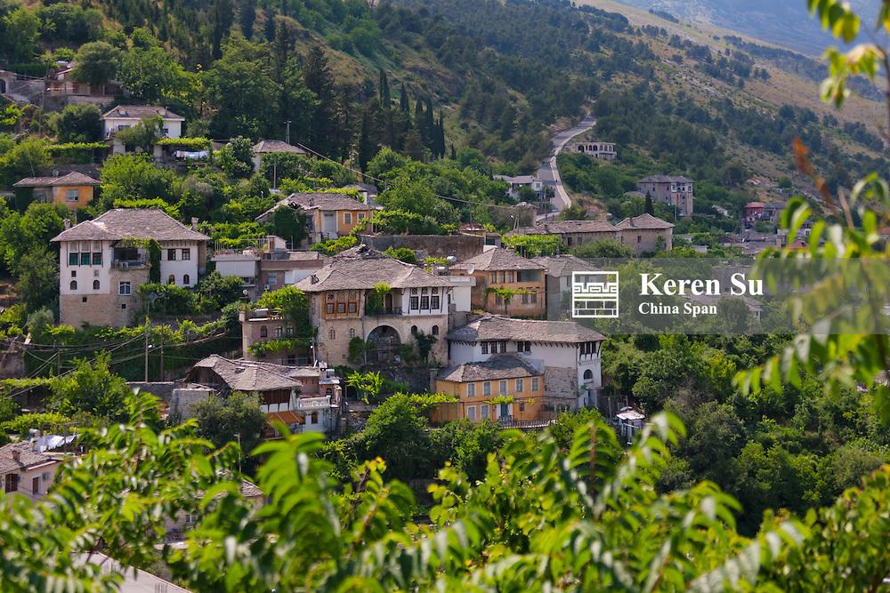 Gjirokaster in the mountain, UNESCO World Heritage site, Albania