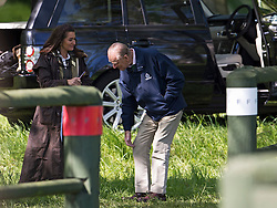 © London News Pictures. 12/05/2012. Windsor, UK. HRH Prince Philip  time keeping at The Land Rover International Driving competition on day four of the Royal Windsor Horse Show in the grounds of Windsor Castle, Berkshire,  on May 12, 2012. Photo credit: Ben Cawthra/LNP