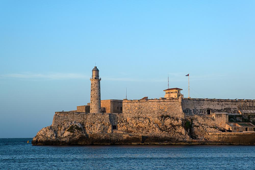 HAVANA, CUBA - CIRCA JANUARY 2020: Lighthouse and Castillo del Morro in Havana