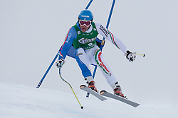 21.01.2011, Hahnenkamm, Kitzbuehel, AUT, FIS World Cup Ski Alpin, Men, Super G, im Bild Christof Innerhofer (ITA) takes to the air competing in the 2011 Hahnenkamm Super Giant Slalom race (Super G)part of  Audi FIS World Cup races in Kitzbuhel Austria. EXPA Pictures © 2011, PhotoCredit: EXPA/ M. Gunn
