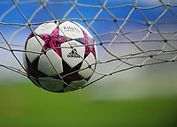The 2017 UEFA Women's Champions League final match ball <br /> <br /> Photographer Kevin Barnes/CameraSport<br /> <br /> UEFA Women's Champions League Final - Pre match training session - Lyon Women v Paris Saint-Germain Women - Wednesday 31st May 2017 - Cardiff City Stadium<br />  <br /> World Copyright © 2017 CameraSport. All rights reserved. 43 Linden Ave. Countesthorpe. Leicester. England. LE8 5PG - Tel: +44 (0) 116 277 4147 - admin@camerasport.com - www.camerasport.com