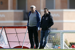 (L-R), Leo van Wijk, Marc Overmars during a training session of Ajax Amsterdam at the Cascada Resort on January 10, 2018 in Lagos, Portugal