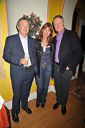 Left to right, NICK & NETTE MASON and RORY BREMNER at a party to celebrate the publication of Charles Glass's new book 'Americans in Paris' held at 12 Lansdowne Road, London W1 on 25th March 2009.