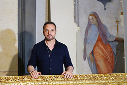 Florence, Restoration of the Capponi Chapel in Santa Felicita with paintings of Pontormo thanks to the Donation of Friends of Florence In the picture the Restauratore Daniele Rossi 30/05/2017 Florence Italy