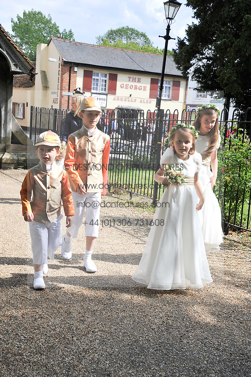The Wedding of Sam Waley-Cohen to Miss Annabel (Bella) Ballin at St Michael & All Angels Church, Lambourn, Berkshire on 11th June 2011.<br /> Picture Shows:-Bridesmaids & page boys