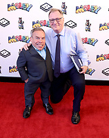 """Warwick Davis and James Reatchlous at  the """"Moley"""" premiere, Leicester Square, London, Location, London, UK - 25 Sep 2021 photo by Roger Alacron"""