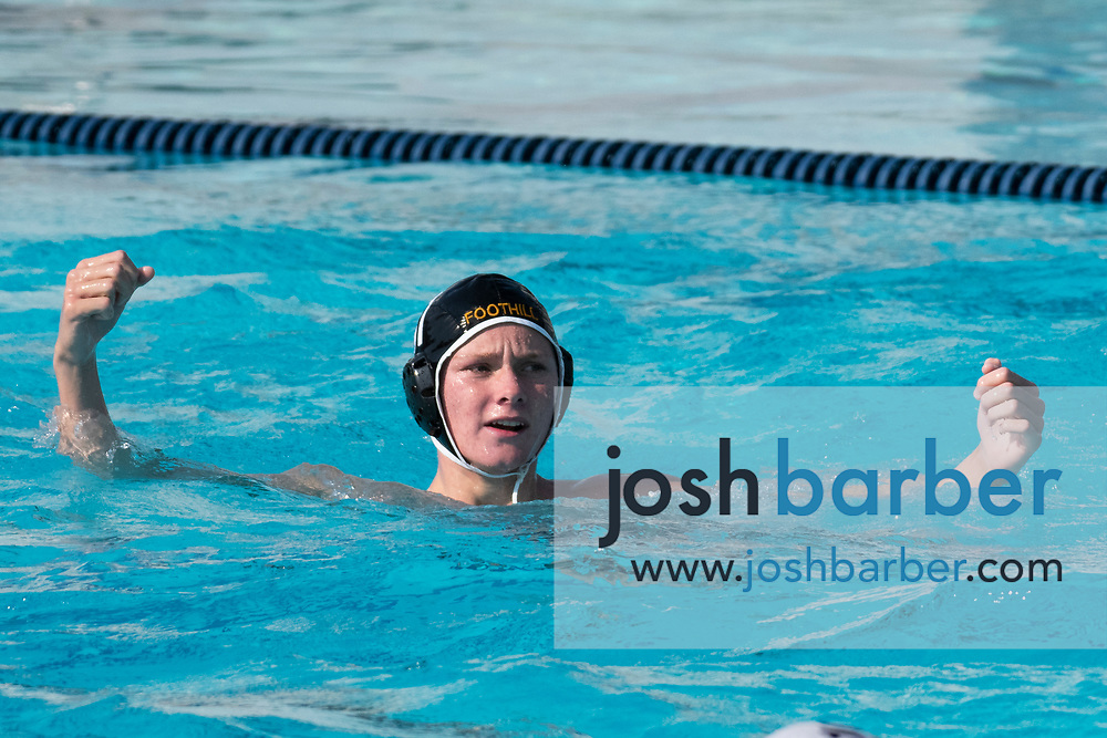 Foothill's Noah Rowe at William Woollett Jr. Aquatic Center on Saturday, November 10, 2018 in Irvine, Calif. (Photo by Josh Barber, Contributing Photographer)
