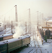 Irkutsk railway station, Siberia, Russia