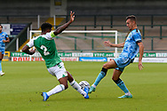 Taylor Allen (12) of Forest Green Rovers battles for possession during the Pre-Season Friendly match between Yeovil Town and Forest Green Rovers at Huish Park, Yeovil, England on 31 July 2021.