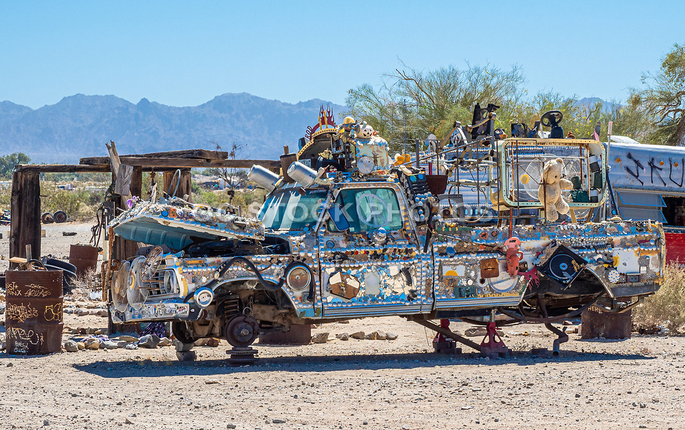 Decorated Old Truck in Slab City