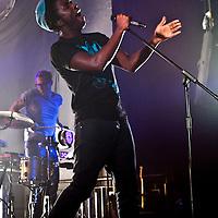 Kele Okereke performing live at The Ritz, Manchester, UK, 2010-11-18