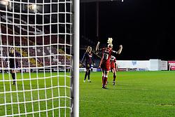 Bristol Academy Womens' Nikki Watts  celebrates  - Photo mandatory by-line: Joe Meredith/JMP - Mobile: 07966 386802 - 13/11/2014 - SPORT - Football - Bristol - Ashton Gate - Bristol Academy Womens FC v FC Barcelona - Women's Champions League