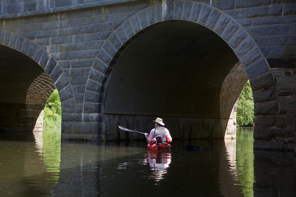 Paddling the Potomac during a late spring flood