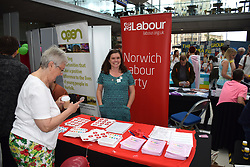 Labour Party stall at Pride 2017, Norwich UK, 29 July 2017