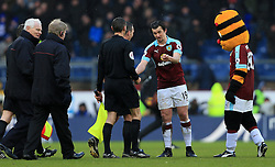 12th February 2017 - Premier League - Burnley v Chelsea - Joey Barton of Burnley has words with the referee and officials after the match - Photo: Simon Stacpoole / Offside.