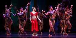 La Bayadere <br /> A ballet in three acts <br /> Choreography by Natalia Makarova <br /> After Marius Petipa <br /> The Royal Ballet <br /> At The Royal Opera House, Covent Garden, London, Great Britain <br /> General Rehearsal <br /> 30th October 2018 <br /> <br /> STRICT EMBARGO ON PICTURES UNTIL 2230HRS ON THURSDAY 1ST NOVEMBER 2018 <br /> <br /> <br /> <br /> <br /> Natalia Osipova as Gamzatti <br /> <br /> <br /> Photograph by Elliott Franks Royal Ballet's Live Cinema Season - La Bayadere is being screened in cinemas around the world on Tuesday 13th November 2018 <br /> --------------------------------------------------------------------