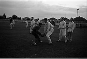 31/07/1962<br /> 07/31/1962<br /> 31 July 1962<br /> Dublin Senior Football team practice at O'Toole Park, Dublin. Ball passing practice by the Dublin team in preparation for All Ireland Semi Final game against Kerry.