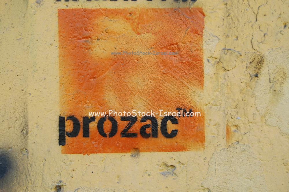 Wall graffiti - Prozac a common antidepressant