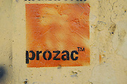 Wall graffiti - Prozac a common antidepressant
