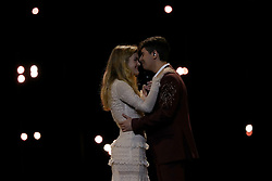 May 7, 2018 - Lisbon, Portugal - Singers Alfred y Amaia of Spain performs during the Dress Rehearsal of the first Semi-Final of the 2018 Eurovision Song Contest, at the Altice Arena in Lisbon, Portugal on May 7, 2018. (Credit Image: © Pedro Fiuza/NurPhoto via ZUMA Press)