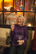 LYNN BARBER, The Omnivore hosts the third Hatchet  Job of the Year Award. Sponsored by the Fish Society.  The Coach and Horses. Greek st. Soho. London. 11 February 2014.