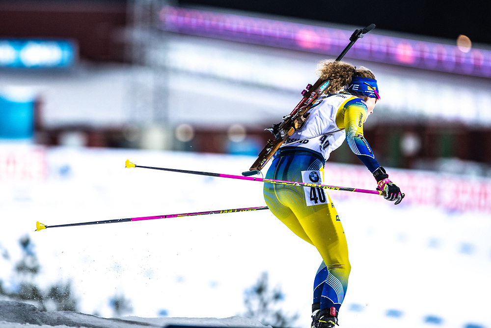 VÄRLDSCUP SKIDSKYTTE SPRINT DAMER 2019-12-01<br /> Hanna Öberg under söndagens Sprint  på Swedish National Biathlon Arena i Östersund.<br /> <br /> Foto:Per Danielsson/Projekt P