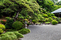 Eirinji or Eirinji Jokoden Temple located in Shimo-Yugi in Hachioji Tokyo.  The temple is selected as one of Hachioji Hachiji-Hakkei 88 Scenic Places in Hachioji.   Eirinji is a temple of the Soto sect of Zen Buddhism. The main object of worship is Dakini Sonten.  Passing through the three gates of Somon, Romon and Suzakumon, you will reach the main hall. On a hill behind the main hall is the ruin of Oishi Sadahisa's old residence, as well as a magnificent dry zen garden that is rarely open to the public but can be seen from the corner of the main temple building. The temple is attributed to Oishi Sadahisa, a powerful warrior in the Warring States period 1493-1573. When Sadahisa moved to Takiyama Castle with which the temple is associated, he founded Eirinji here. Later when Tokugawa Ieyasu moved to the Kanto region, he praised the grove in the precinct of this temple.  Surrounding the temple grounds are hills planted with various types of shrubs, including azaleas that bloom in spring with color