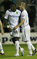 Photo: Rich Eaton.<br /> <br /> Torquay United v Norwich City. Carling Cup. 23/08/2006. Dickson Etuhu left is congratulated after scoring the second goal of the game for Norwich