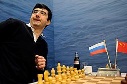 17-01-2011 SCHAKEN: TATA STEEL CHESS TOURNAMENT: WIJK AAN ZEE <br /> Vladimir Kramnik RUS<br /> ©2010-WWW.FOTOHOOGENDOORN.NL
