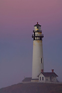 Pigeon Point Lighthouse at dawn, San Mateo County coast, California