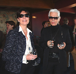 EXCLUSIVE. Princess Caroline of Monaco and German designer Karl Lagerfeld attend a lunch organised by Chanel to honor the 2004 Nijinski Awards at the Hotel of Paris in Monte-Carlo, Monaco on December 19, 2004. NO TABLOIDS. Photo by Bruno Klein/ABACA.