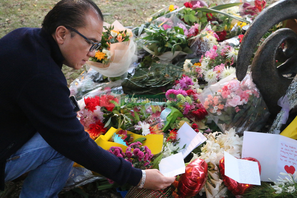 March 16, 2019 - Christchurch, New Zealand - Indonesian Ambassador Tantowi Yahya seen laying down flowers to pay respect to the victims of the Christchurch mosques shooting. Around 50 people has been reportedly killed a terrorist attack on two Christchurch mosques. (Credit Image: © Adam Bradley/SOPA Images via ZUMA Wire)